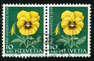 SWITZERLAND #B278, USED PAIR  - 1958 - SWIT081