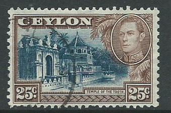 Ceylon George VI  SG 392 Used
