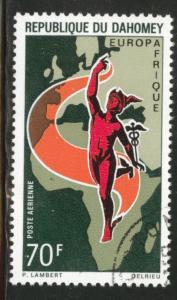 Dahomey Scott C128 used CTO 1970 EuroAfrica stamp