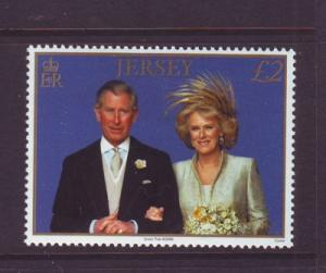 Jersey Sc 1214 2006  Royal Wedding Pr Charles stamp mint NH