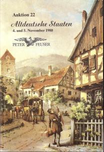 Feuser: Sale # 22  -  Auktion. 22 Altdeutsche Staaten, Pe...