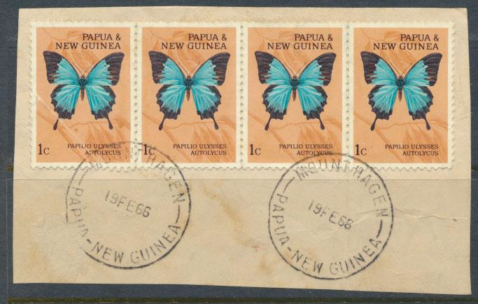Papua New Guinea SG 82  SC# 209  Used on piece -  Butterflies see details
