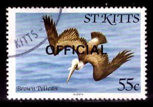 St Kitts Scott o18 used 1981 Official bird stamp