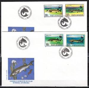 Romania, Scott cat. 3954-3957. Surgeons, W.W.F. issue. First day cover.