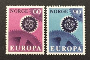 Norway 1967  #504-5, Europa, MNH.