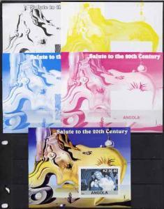 Angola 2002 Salute to the 20th Century #04 s/sheet - Mari...