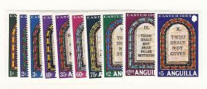 Anguilla, 526-35, Ten Commandments-Easter 1983, Singles,MNH
