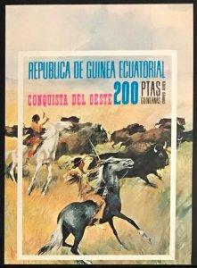 Equatorial Guinea #MiBl127 MNH S/S CV€7.50 Wild West