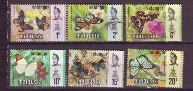 J18028 JLstamp [low price] 1971 malaya selangor from set mh/used #128//134