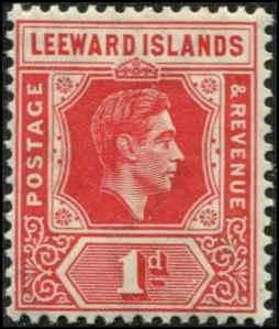 Leeward Islands SC# 105a SG# 98 Geroge VI 1d Scarlet MH