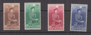 NEW ZEALAND, 1953 Queen on Horseback 2s.6, lhm., 3s.,mnh., 5s. lhm., & 10s. mnh