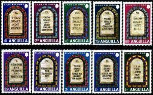 HERRICKSTAMP ANGUILLA Sc.# 526-35 Ten Commandments (Easter) Popular Set