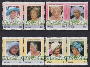 Tuvalu Nukufetau 1985-86 Queen Mother 44-47 MNH
