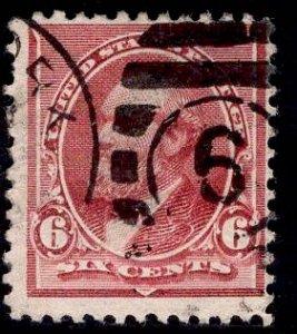 US Stamp #224 6c Brown Red Garfield USED SCV $25.00