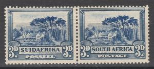SOUTH AFRICA 1930 GROOTE SCHUUR 3D WMK UPRIGHT ROTO PRINTING