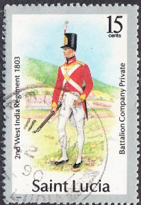 St. Lucia    #676  Used