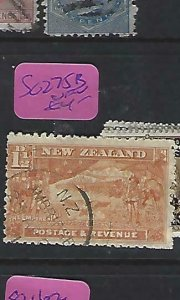 NEW ZEALAND    (P2908B)  PICTORIAL  1 1/2D  SG 275B   CDS  VFU