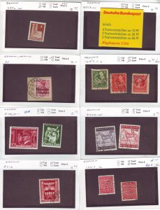 Z627 JL stamps germany mnh/mh/used on sales cards, check scan, all checked sound