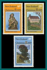 New Zealand 1979 Christmas, MNH/LH  #690-692,SG1204-SG1206