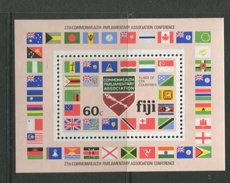 Fiji - Scott 453 - General Issue -1981 - MNH - Single Mini Sheet with 60c Stamp
