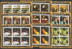 KV252 IMPERFORATE 2002 GUINEA NEW ART PAINTINGS GUSTAVE COURBET 6SET(9KB) MNH