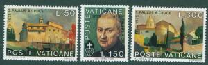 VATICAN Scott 585-7 MNH** 1975 St. Paul set CV$0.90