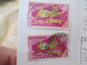Nigeria #189, 189b used  2019 SCV = $4.25