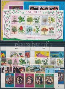 Anguilla stamp 1975-1977 9 diff sets + 7 diff blocks MNH 1975 WS200626