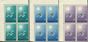 Norfolk Island 1976 SG176-178 Christmas tern blocks FU