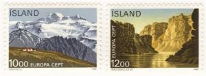 Iceland #622-3 MLH Europa set
