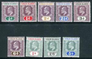 BRITISH VIRGIN ISLANDS-  A superb lightly mounted mint set to 5/- Sg 54-62