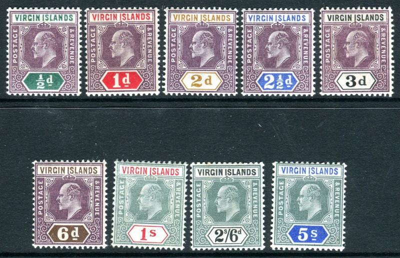 BRITISH VIRGIN ISLANDS-  A superb lightly mounted mint set to 5/- Sg 54-62