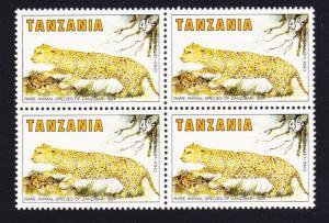 Tanzania Leopard 1v 4Sh Block of 4 SG#421 SC#259