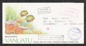 Vanuatu FDC Envelope Marine Life Part II