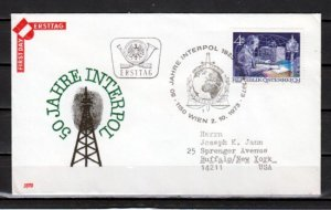 Austria, Scott cat. 955. Interpol, Police issue. First day cover. ^