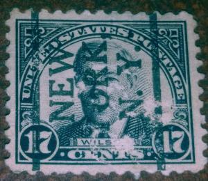 United States 697 used  N.Y.  Pre cancel
