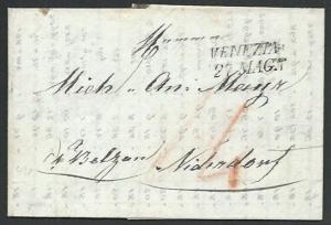 ITALY 1831 entire VENEZIA to Switzerland...................................61808