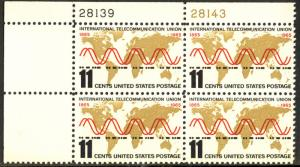 US #1274 11c PLATE BLOCK, VF/XF mint never hinged,  rare modern day plate!