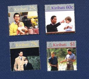 KIRIBATI - Scott 768-771  - FVF MNH - Prince William - 2000
