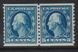 USA #447 VF Mint Paste Up Pair