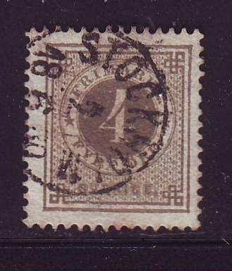 Sweden Sc 29 1879 4 ore ore numeral of value stamp used