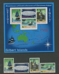 STAMP STATION PERTH Gilbert Is.#300-303a Christmas MNH Souvr Sheet 1976 CV$8.00