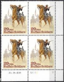 US Stamp 2818 MNH Buffalo Soldiers Set Of Plate Blocks 4