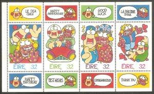 IRELAND Sc# 995a MNH FVF Booklet Pane Greetings Cartoons