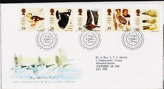 Great Britain. FDC.1996. Wildfowl & Wetlands. Fine Used