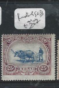 MALAYA KEDAH   (P1605B)  COW  25C  SG 33  MOG