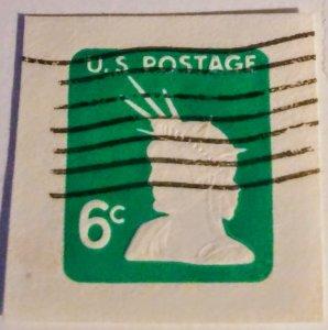 USA U551 – 6c light green 1968 used cut square