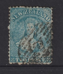 New Zealand a used QV 2d blue FFQ from 1864