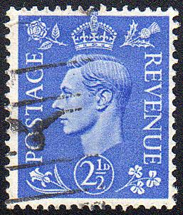 Great Britain - Sc. #262 - 1941 - 2-1/2d Lot of 10 Used - $0.40