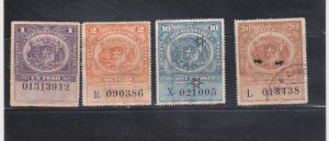 CHILE 1926 Impuesto REVENUES Stamps Used Animal & Bird 1P to 20P